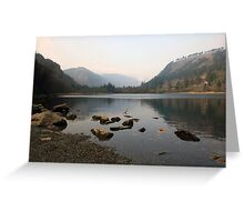 Early morning in Glendalough valley Greeting Card