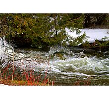 Spring Thaw .... run off... Still Cold Enough for Ice!!! Photographic Print