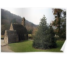 St Kevins church Glendalough Poster