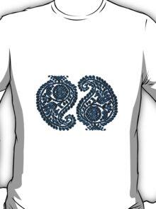 Paisley Blue Bird Sticker & Tshirt T-Shirt