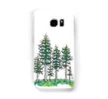 Watercolor and Ink Cypress Tree Samsung Galaxy Case/Skin