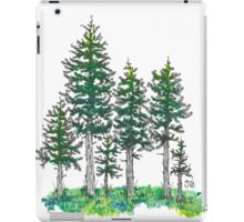 Watercolor and Ink Cypress Tree iPad Case/Skin
