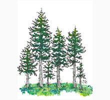 Watercolor and Ink Cypress Tree T-Shirt