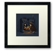 The Witch in the Fireplace Framed Print