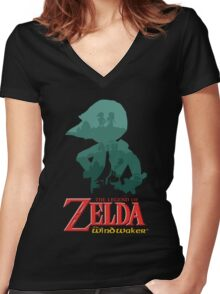 The Legend of Zelda: Wind Waker Women's Fitted V-Neck T-Shirt