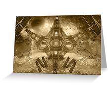 """Outerstellar Exploration of Interspace"" Greeting Card"