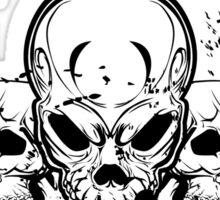 7 Stars Skull Sticker