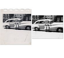 THE TWINS Before & After Photographic Print