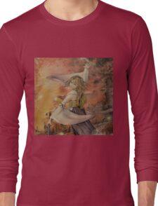 Airbrush Portrait - Yuna from Final Fantasy X Long Sleeve T-Shirt