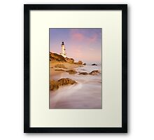 The Stubborn Lighthouse Framed Print