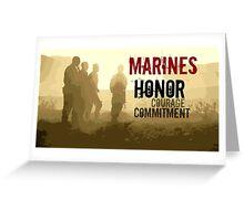 Marine Corps Values Greeting Card