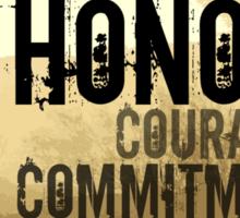 Marine Corps Values Sticker