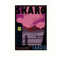 SKARO QUICKER BY TARDIS Art Print