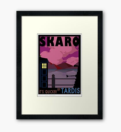 SKARO QUICKER BY TARDIS Framed Print