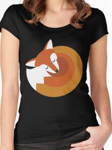 Sleeping Fox (Hounds Off) Women's Fitted Scoop T-Shirt