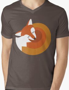 Sleeping Fox (Hounds Off) Mens V-Neck T-Shirt