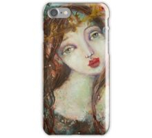 Angel with a crown iPhone Case/Skin