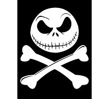 Jack Skellington Crossbones (White) Photographic Print