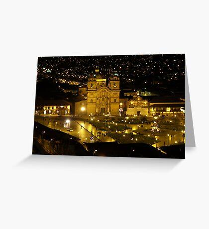 Cusco at Night - Peru Greeting Card