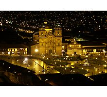 Cusco at Night - Peru Photographic Print