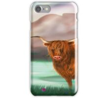 hairy coo at Lochcarron iPhone Case/Skin