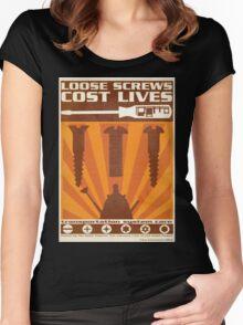 Time War Propaganda II Women's Fitted Scoop T-Shirt