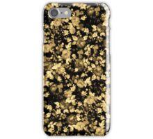 Dark Black and Brown Vintage Floral Pattern iPhone Case/Skin
