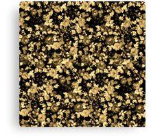 Dark Black and Brown Vintage Floral Pattern Canvas Print