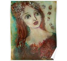 Girl with copper hair Poster