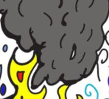 Earth, Wind, Water ,Fire Sticker