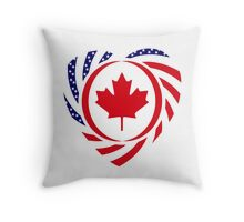Canadian American Multinational Patriot Flag Series 2.0 Throw Pillow