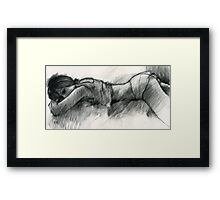 "Study for ""What's he up to?"" Framed Print"