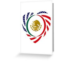 Mexican American Multinational Patriot Flag Series 2.0 Greeting Card