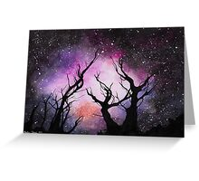 space (trees) Greeting Card