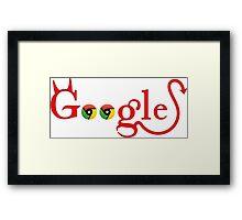 Devil Google Framed Print