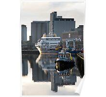 Cork Docks Ireland - Early Morning Poster