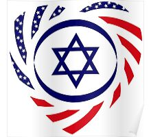 Israeli American Multinational Patriot Flag 2.0 Poster