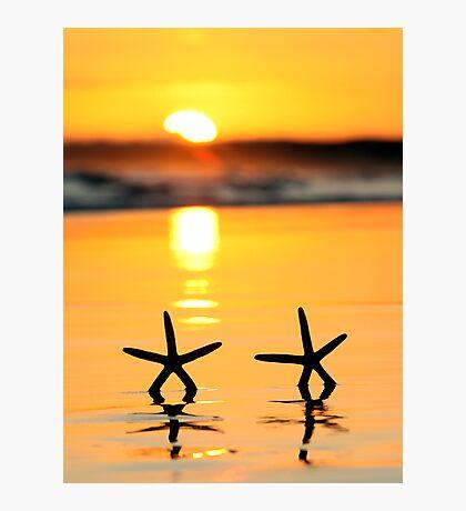 Sunset Starfish Photographic Print
