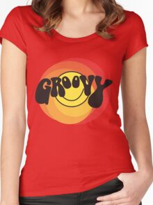 Groovy - Retro shirt Women's Fitted Scoop T-Shirt
