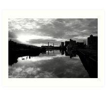 Cork port early morning Art Print