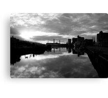 Cork port early morning Canvas Print