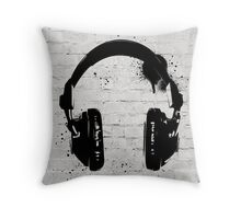 Headphone Throw Pillow