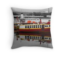 Red Ferry Throw Pillow