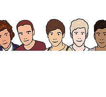 One Direction (in the style of Julian Opie) by UnsaidThings