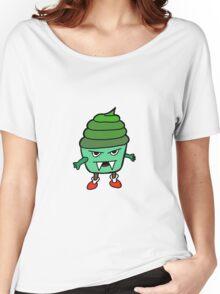 GREEN MUFFIN MONSTER Women's Relaxed Fit T-Shirt