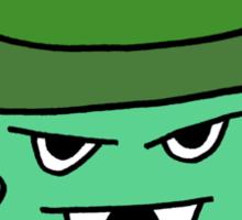 GREEN MUFFIN MONSTER Sticker