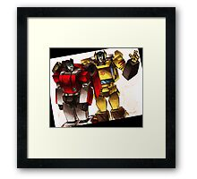 sideswipe & sunstreaker Framed Print