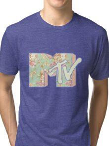 MTV Logo (Pastel Floral) Tri-blend T-Shirt