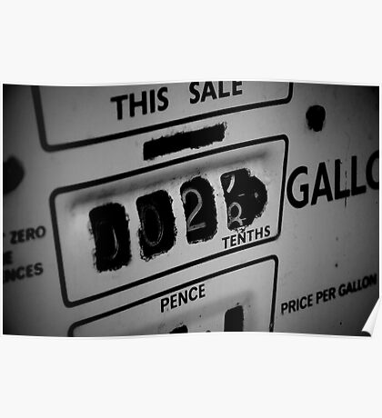 Price Per Gallon Poster