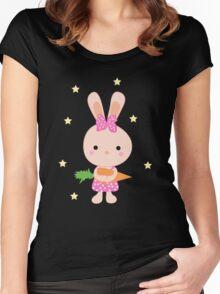 Kids cartoon bunny Women's Fitted Scoop T-Shirt